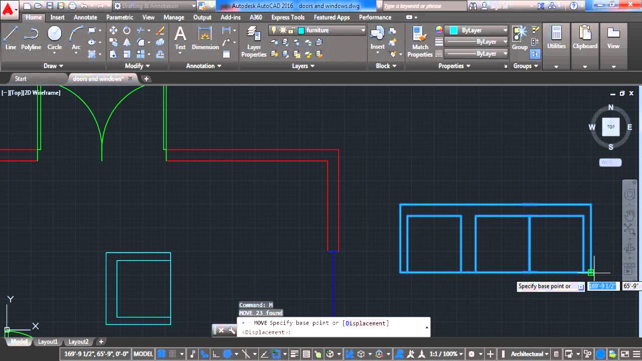 autocad 2016 how to create furniture lesson 5 youtube
