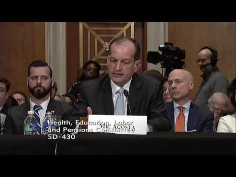 Senator Scott Questions Labor Secretary Nominee Alex Acosta