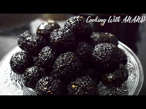 Black Sesame Candy Balls Recipe | Healthy snacks | Sesame Seed Balls | How To Make Ellunda