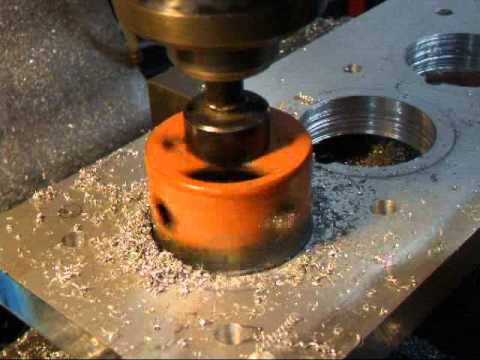 Cutting A Hole With Hole Saw For Torque Plate 1 Youtube
