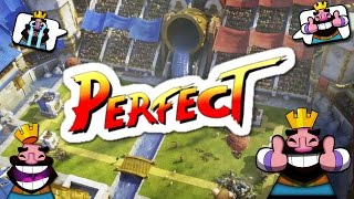 WINNING a BATTLE PERFECT in CLASH ROYALE