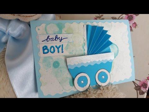 Cute and Simple Baby Boy Card 3D- Biglietto semplice per nuovo arrivato 3D | Do it Roxy