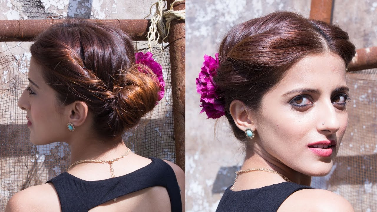 The 1 Minute Updo For A Wedding Party Updo Hairstyles Youtube