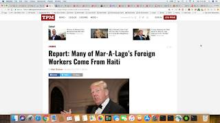 Trump Only Hires Workers From Haiti And Romania For His Golf Resort