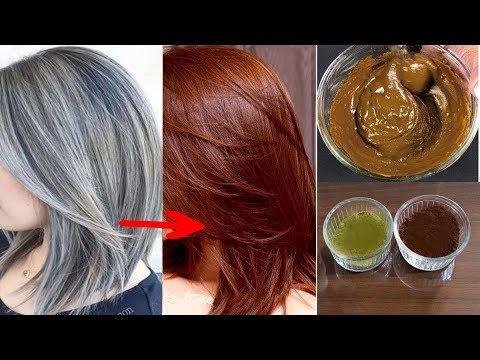 صباغة طبيعية تخ�ي وتعالج الشعر الأبيض والشيب المبكر من أول إستعمال قولي وداعا للصبغة الكيماوية
