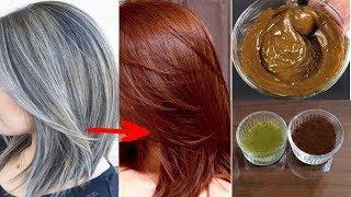 صباغة طبيعية تخفي وتعالج الشعر الأبيض والشيب المبكر من أول إستعمال قولي وداعا للصبغة الكيماوية