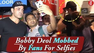Bobby Deol MOBBED By Fans For Selfies