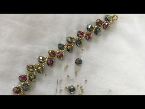 SARMAŞIK KOLYE YAPIMI | Simple bracelet with crystal beads tutorial