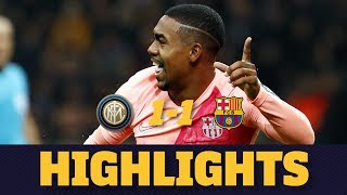 INTER MILAN 1-1 BARÇA | Match highlights