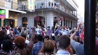 French Quarter Festival: Live Jazzy Music At Bourbon & Iberville, New Orleans, La  04/12/2014