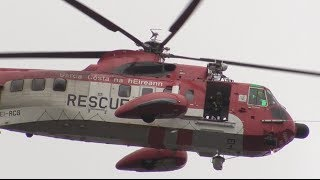 Irish Coast Guard Rescue Helicopter over The River Foyle, Derry - Londonderry - Clipper 2012