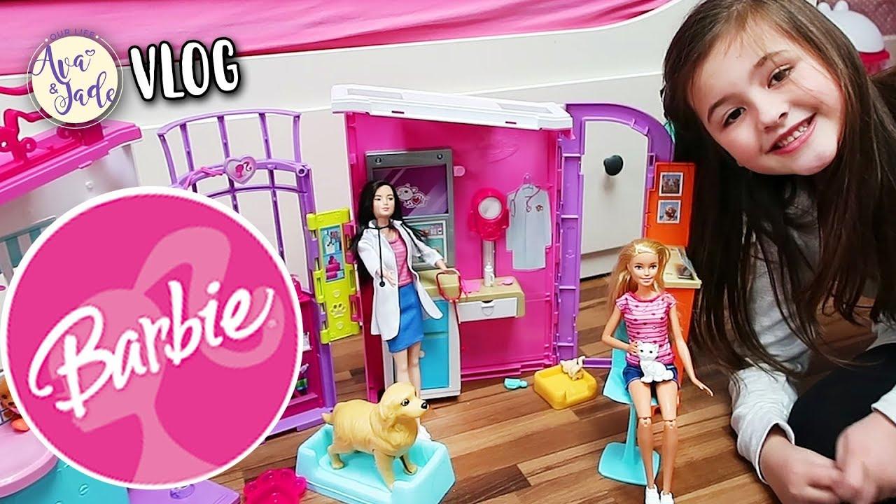 Ava spielt mit TIERÄRZTIN Barbie 💕Our Life Ava & Jade VLOG - YouTube