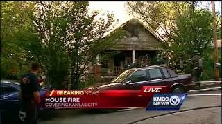 KC fire crews battle house fire on city