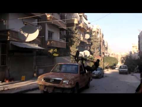 Aleppo Freedom Fighters Drive Assad Army friom Izza 9 27 12 Syria