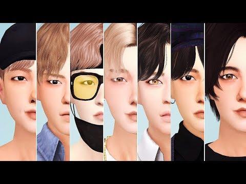 BTS 🎤 RM, JIN, SUGA, J-HOPE, JIMIN, TAEHYUNG & JUNGKOOK 🎤 Sims 4 CAS