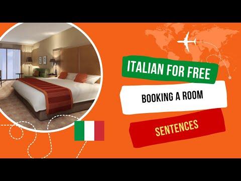[Learn Italian For Free] -booking Hotel In Italian Language.