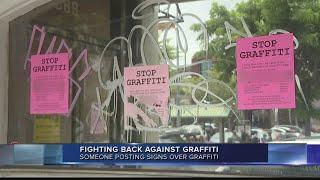 Community fights back against graffiti