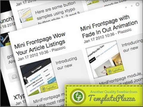 How to Use MiniFrontPage to Display Articles for Joomla - Basic