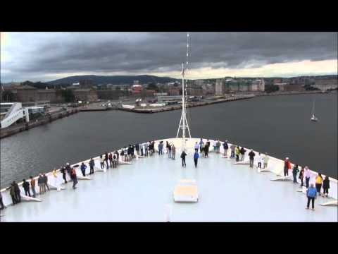 Time lapse # Norway Oslo ship deck