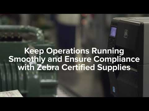 Zebra Certified Supplies Manufacturing Labeling Solutions
