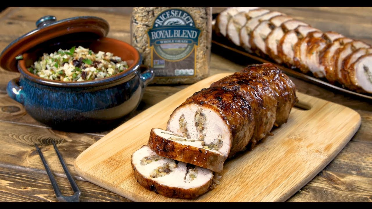 Royal Stuffed Pork Loin by RiceSelect