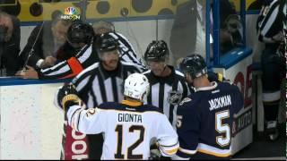 Zadorov, Steen, Ennis, Cole fight Buffalo Sabres vs St. Louis Blues Nov 11 2014 NHL