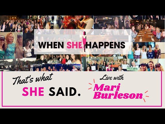 A conversation with Mari Burleson