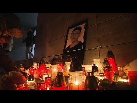 Vigil held for slain Slovak journalist