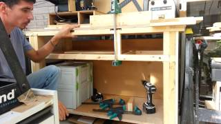 Build A Workbench With 4x2's & Scrap :easy Budget Project! #2/3