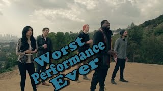 Pentatonix Worst Performance Ever Little Drummer Boy Shreds