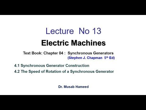 Lecture 13   Synchronous Generators     Electrical Machines