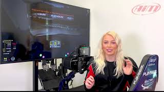AiM Technologies SiM Racing Display Logger With Chloe Anna Jones