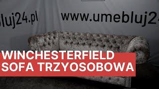 Sofa GLOSS Trzy-osobowa tkanina ICE Velvet