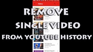 Delete Single Video From YouTube History