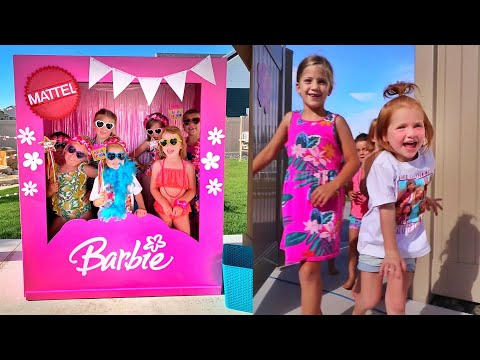 4 YEARS OLD!! Barbie Dream Backyard for Adleys Birthday Party