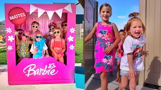 4 Years Old!! Barbie Dream Backyard For Adleys Birthday Party 🥳