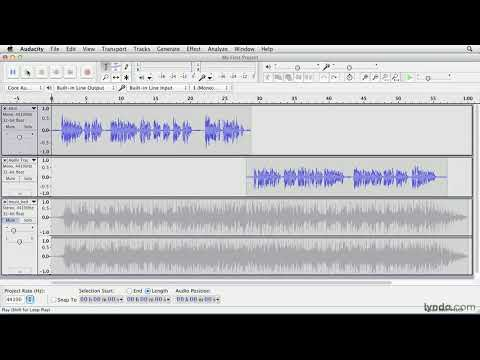 Audacity tutorial: Making selections | lynda.com