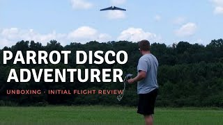 Parrot Disco -- Unboxing -- Initial Flight Review -- Impressive!