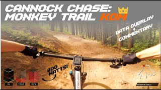 TAKING THE MONKEY TRAIL KOM - COMMENTARY + DATA OVERLAY