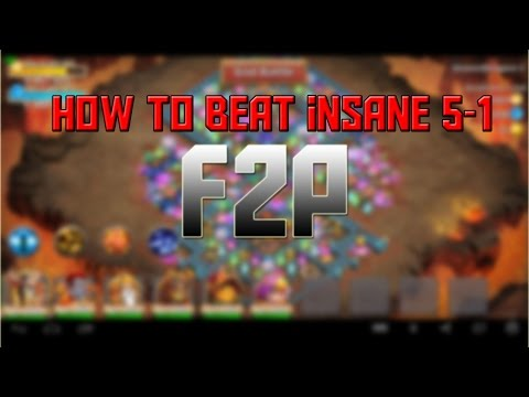 Castle Clash How To Beat Insane Dungeon  5-1 F2P