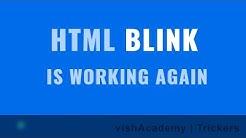 Blink animation on HTML elements