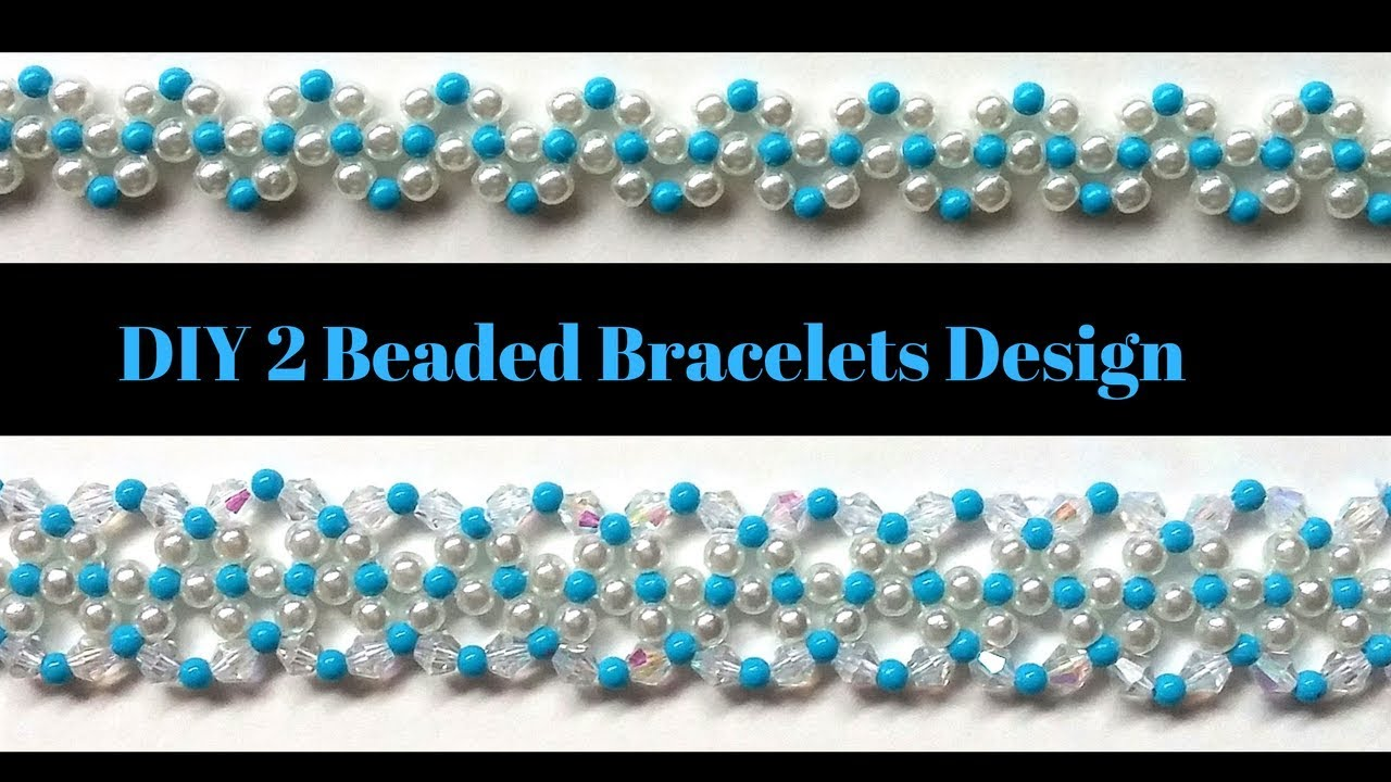 Beading tutorial. 2 beaded bracelets design. Handmade jewelry ideas