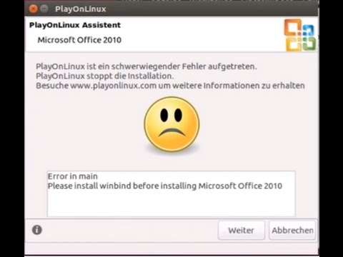Please install winbind before installing microsoft office 2010