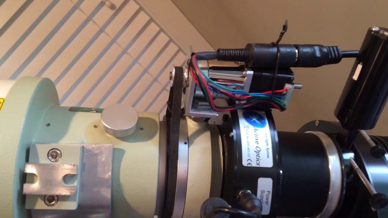 Telescope rotator for TSA-120 with 3D prints gear