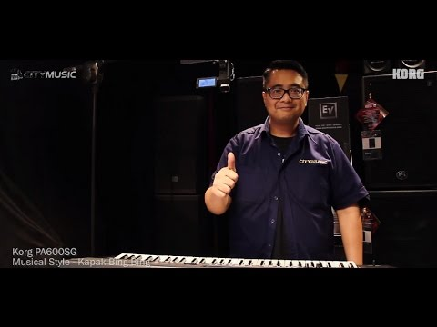 Korg PA600SG, Singapore's very own Musical Keyboard