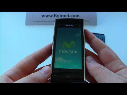 Nokia X6, X6-00 Unlock & input / enter code.AVI