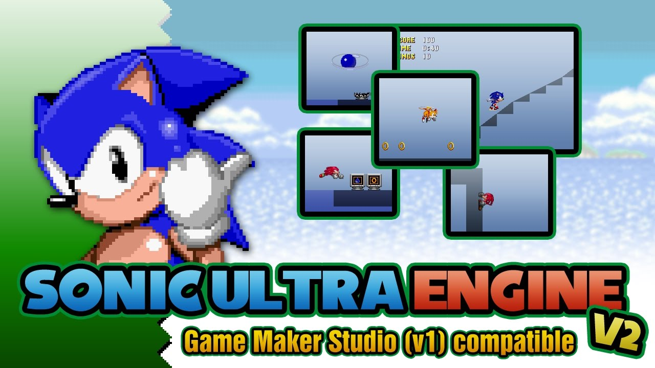 Sonic ultra engine v2 game maker studio youtube for Game maker templates download