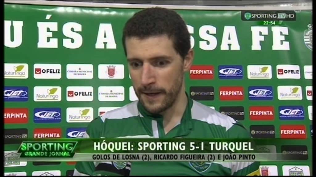 Hoquei Patins :: 19J :: Sporting - 5 x Turquel - 1 de 2014/2015