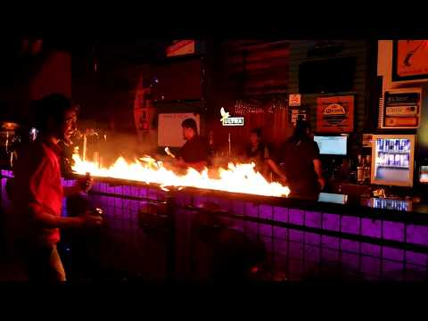 Rode Lounge Powai Fire Show with Alcohol