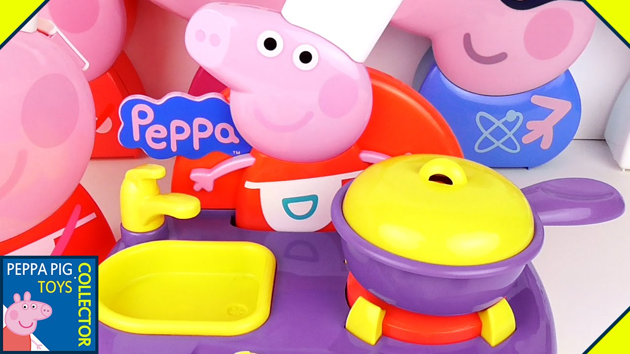 Pig Kitchen Discount Supplies Peppa Cooking In The Toy Sing Along Youtube
